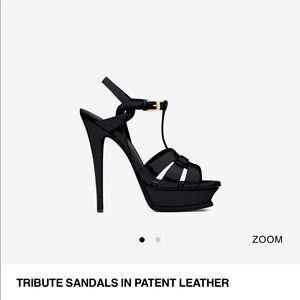 YSL back patent leather Tribute heels. Size 39.